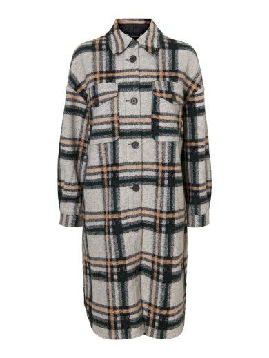 Vero Moda dámský košilový kabát Chrissie šedý