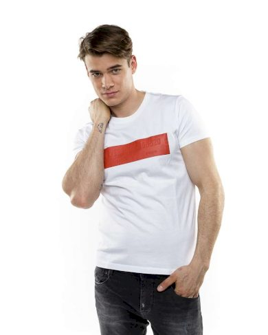 Devergo pánské triko s potiskem bílé