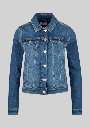 s.Oliver dámská džínová bunda středně modrá