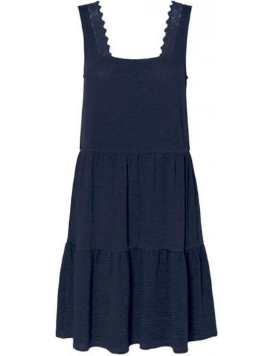 Vero Moda dámské volánové šaty Alice na ramínka modré