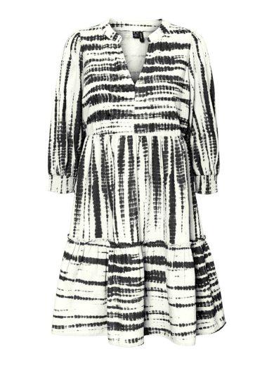 Vero Moda dámské tunikové šaty Dicthe černobílé