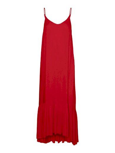 Vero Moda dámské maxi šaty Lina červené
