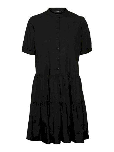 Vero Moda dámské košilové šaty Delta černé