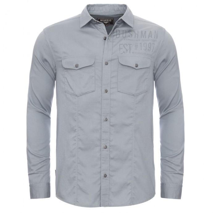 Bushman košile Leland Long light grey M