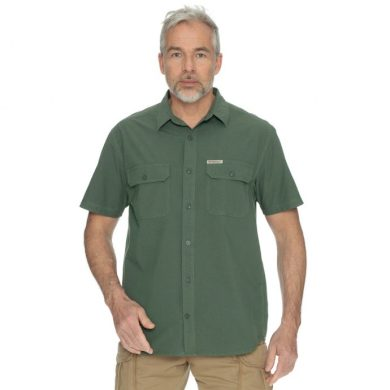 Bushman košile Well Short dark green M
