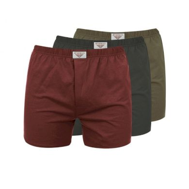 Bushman trenýrky Nicolas 3Pack khaki/burgundy/dark brown M