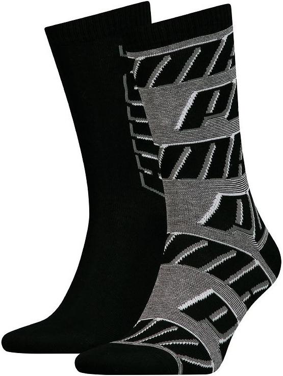 Ponožky Puma Sock All Over Logo 2P Black