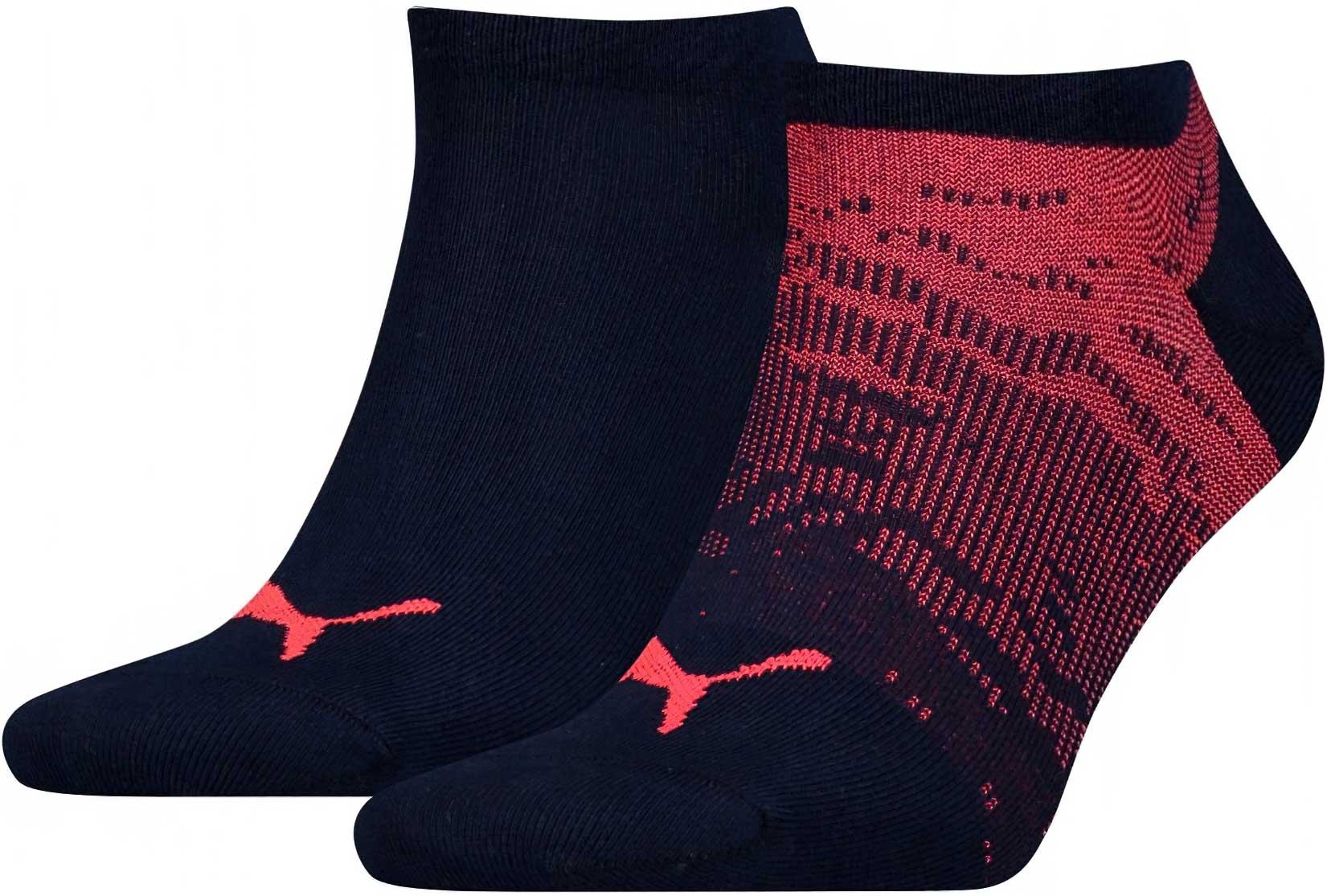 Ponožky Puma Sneakers 2P Black Red