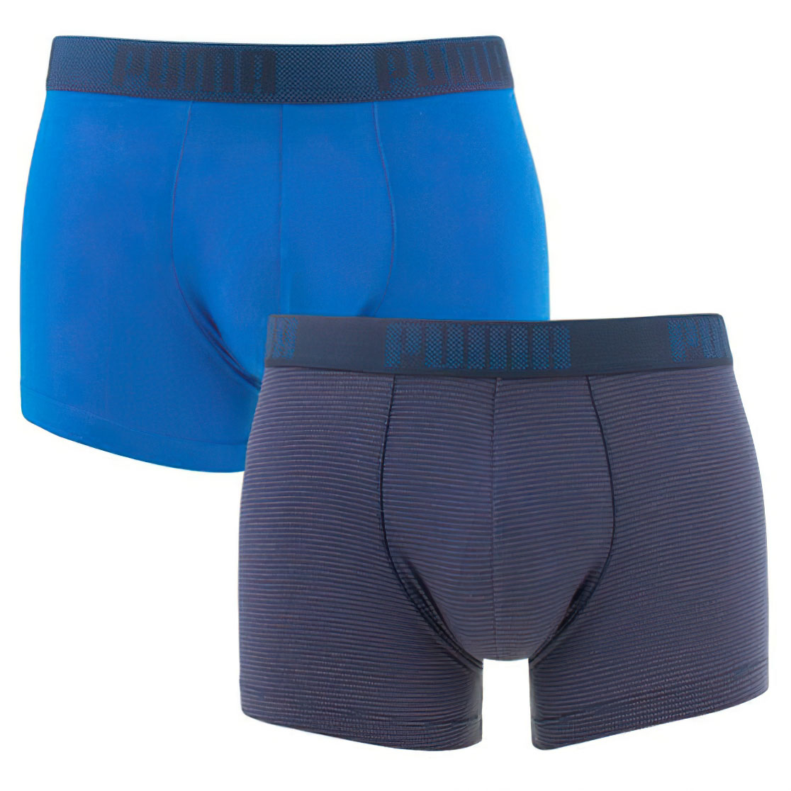 Pánské boxerky Puma Birdfeet Stripe Boxer 2-Pack Blue