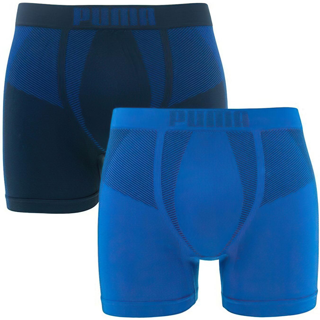 Pánské boxerky Puma Seamless Active Boxer 2-Pack Blue
