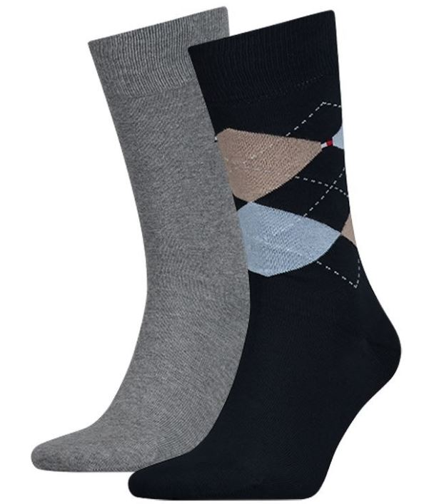 Pánské ponožky Tommy Hilfiger Check 2-pack