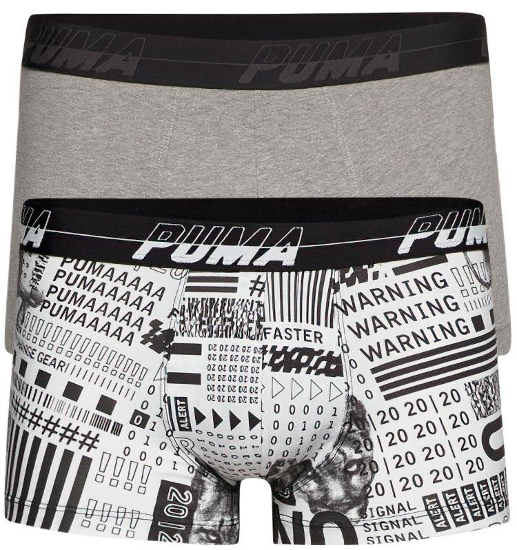 Pánské boxerky Puma Activism Aop Trunk 2-Pack Black & White