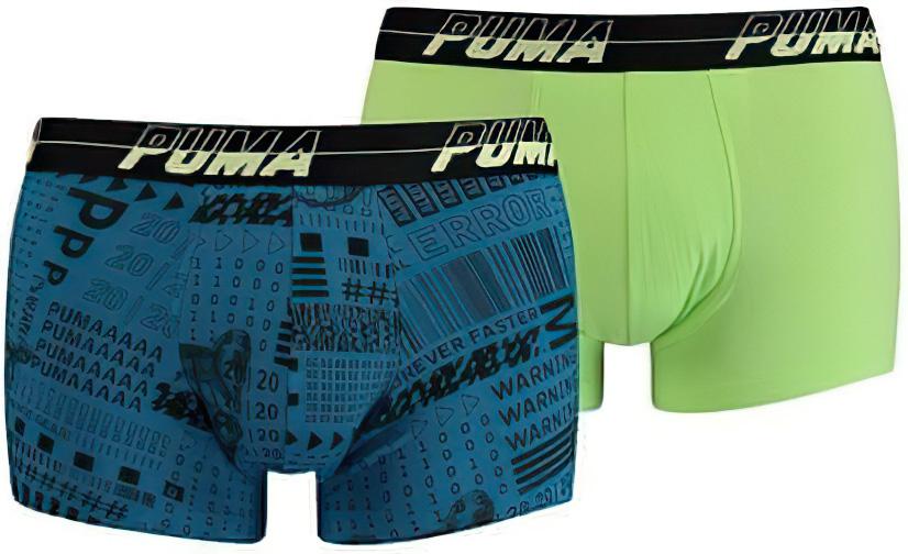 Pánské boxerky Puma Activism Aop Trunk 2-Pack Petrol Blue