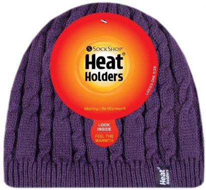 Dámská zimní čepice Heat Holders Alesund fialová