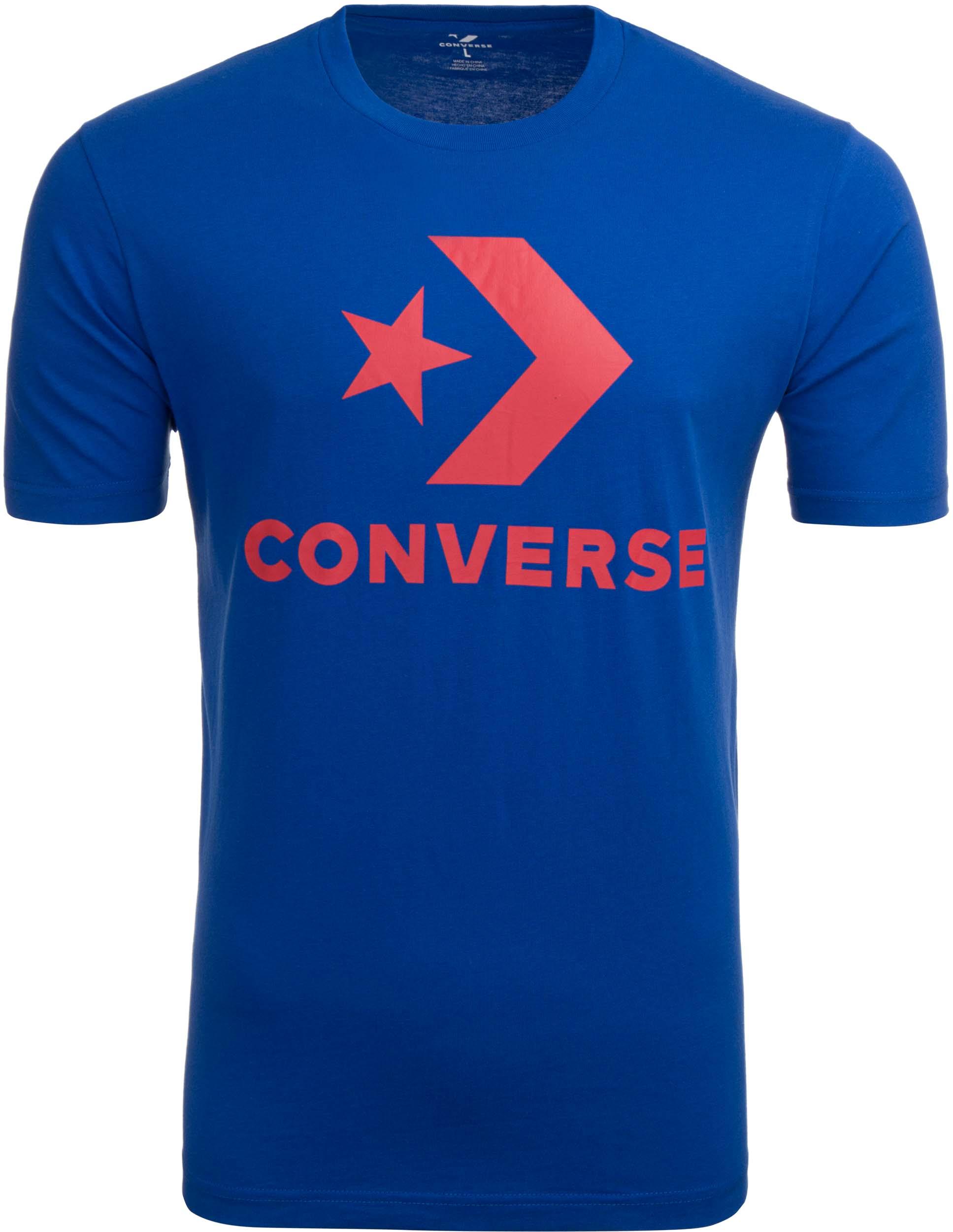 Pánské triko Converse Star Chevron Tee blue
