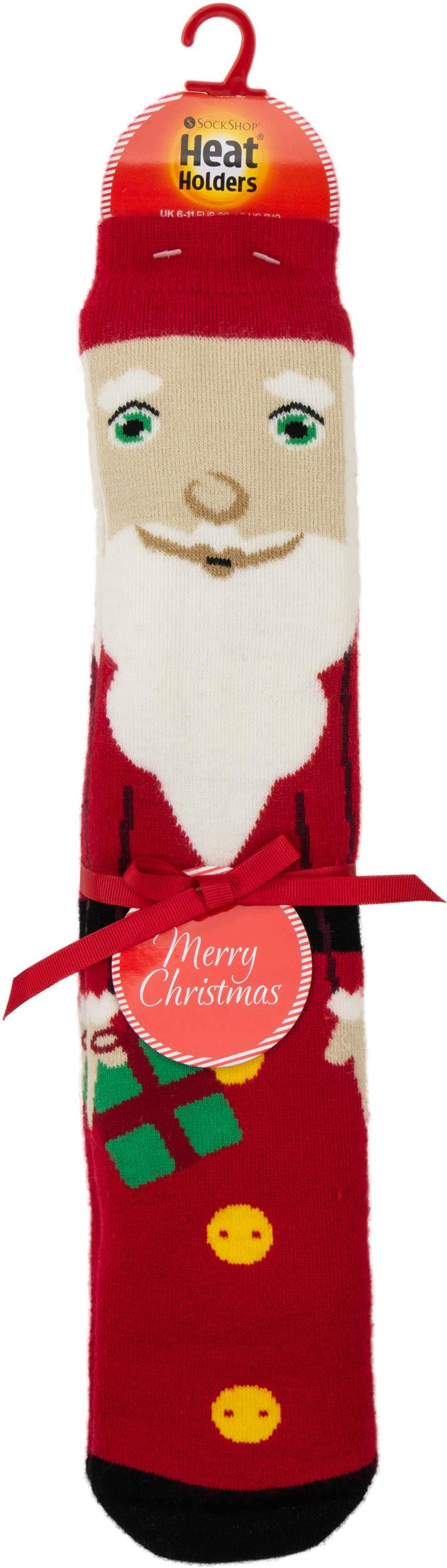 Pánské vánoční ponožky Heat Holders Santa ABS EUR 39-45