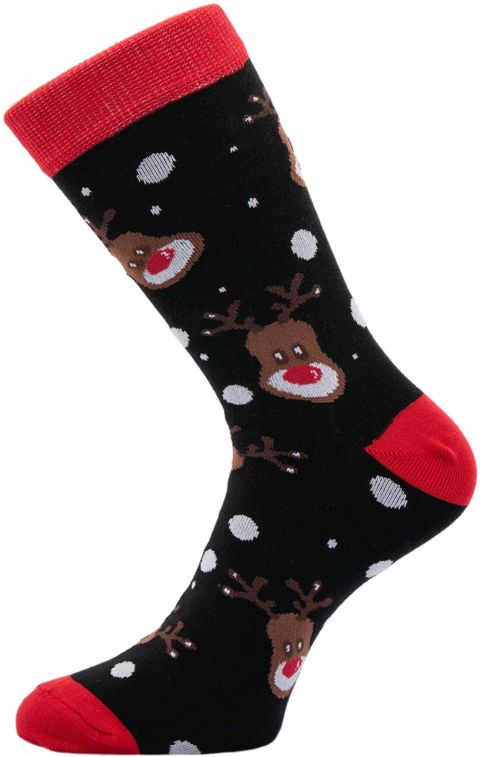 Pánské vánoční ponožky Sobi černé 42-46