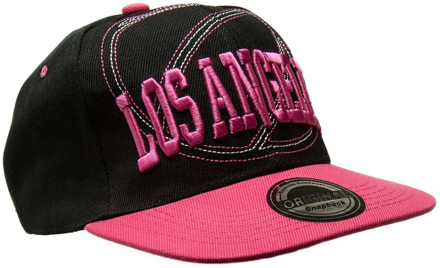 Kšiltovka City Los Angeles černá-růžová