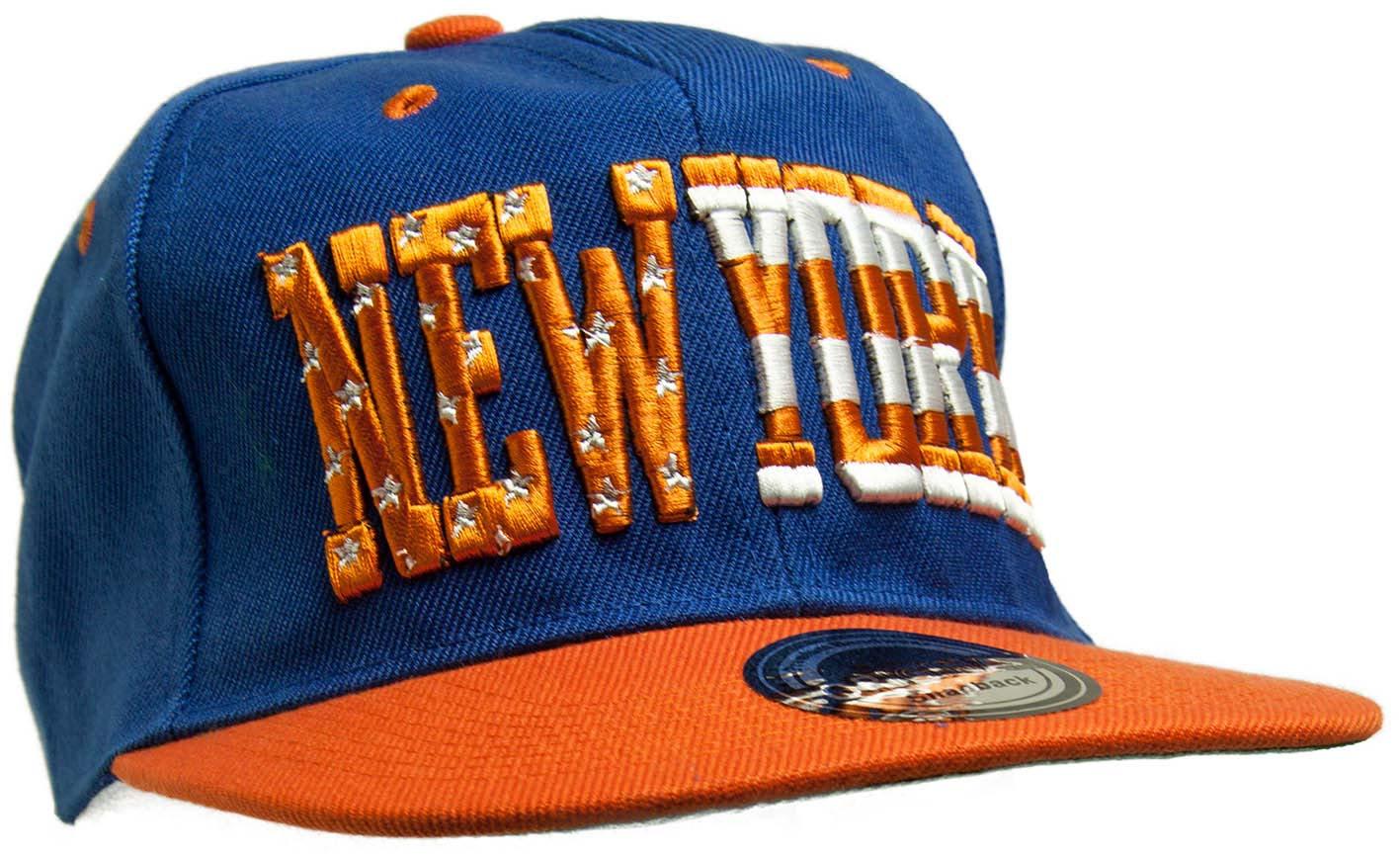 Kšiltovka City New York modrá-bílá-oranžová