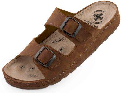Pánské pantofle Medi Line S182.002 camel
