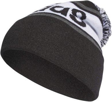 Zimní čepice Adidas Linear Woolie Pompom black