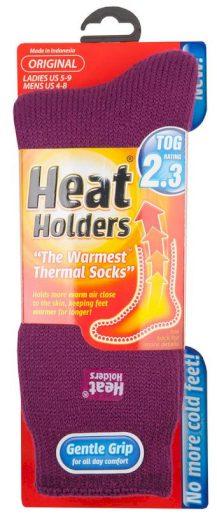 Dámské ponožky Heat Holders Original fialovorůžová