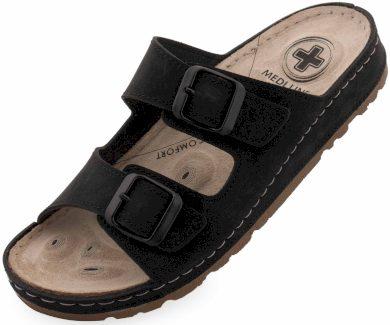 Dámské pantofle Medi Line S182.002 black