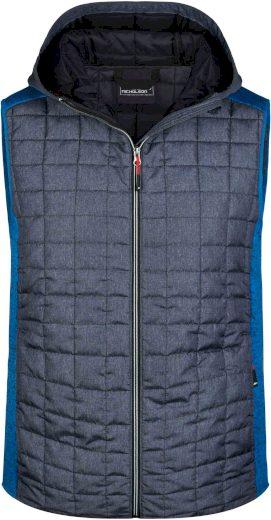 Pánská vesta James & Nicholson Knitted Hybrid Roayal