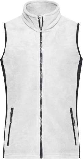 Dámská vesta James & Nicholson Workwear white