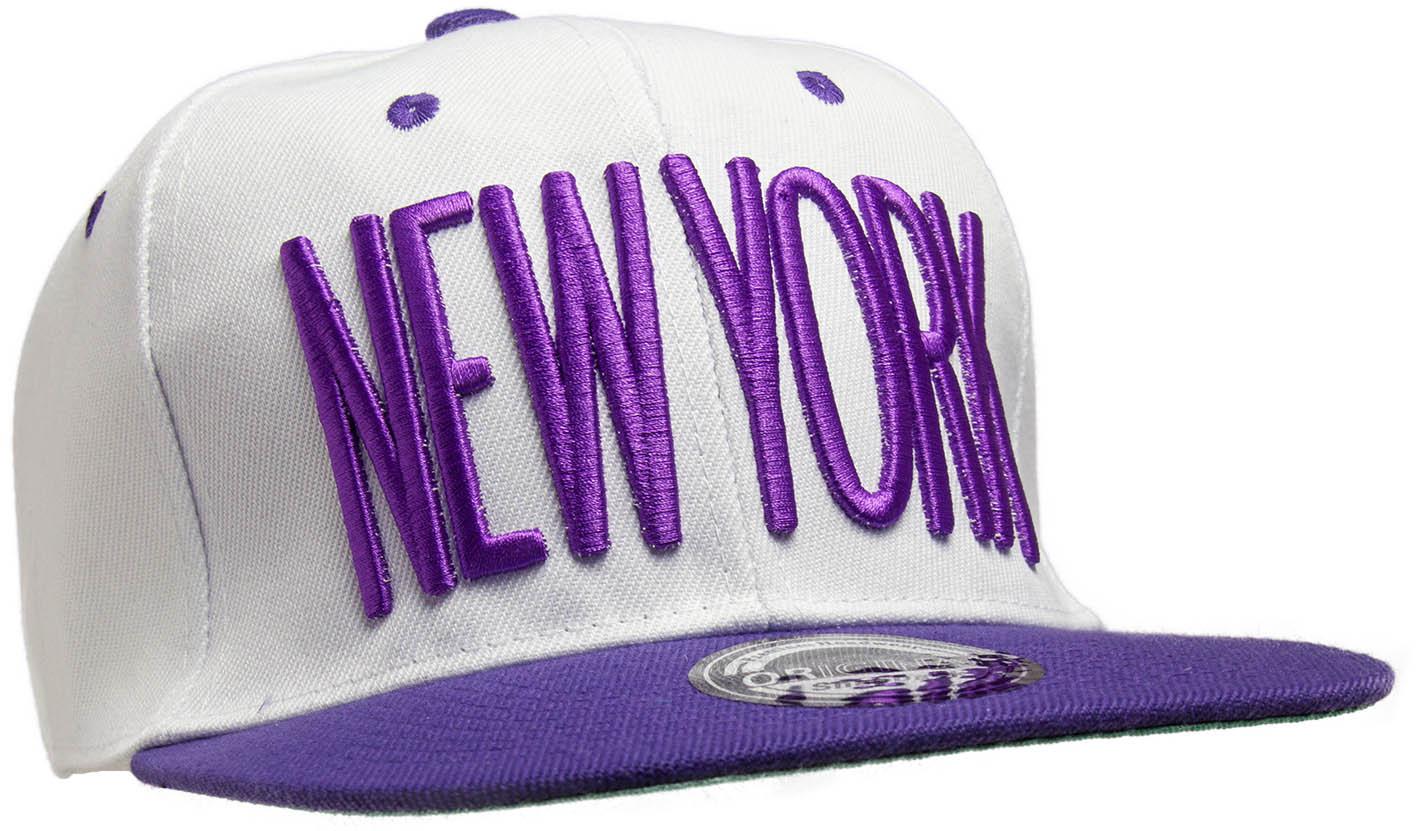 Kšiltovka City New York bílá-fialová_B