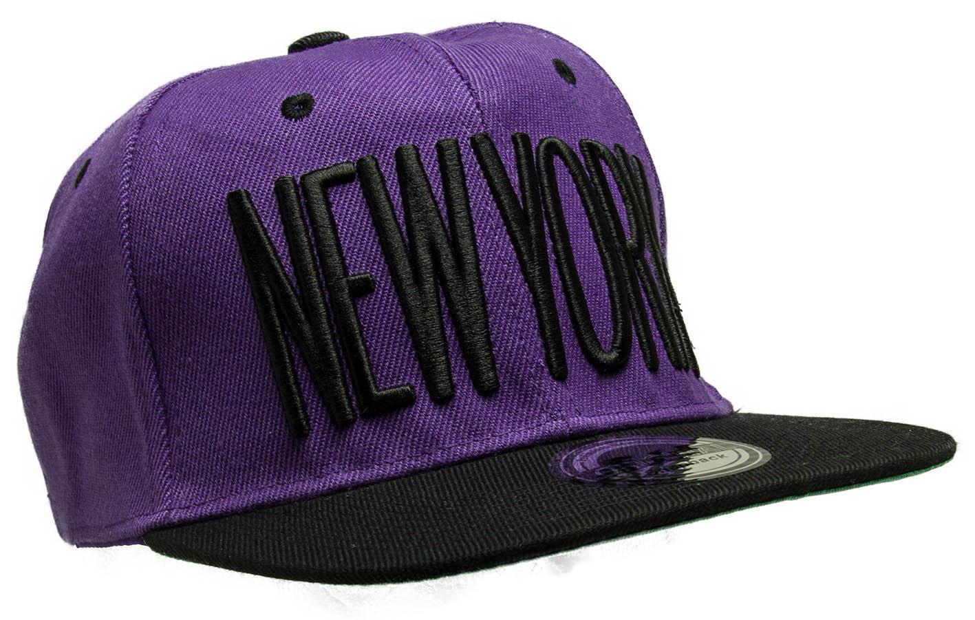 Kšiltovka City New York fialová-černá