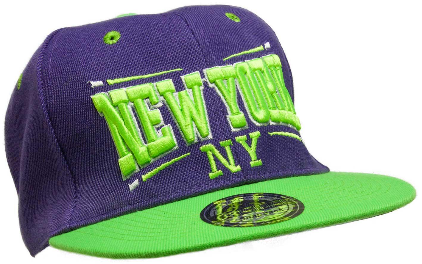 Kšiltovka City New York fialová-zelená