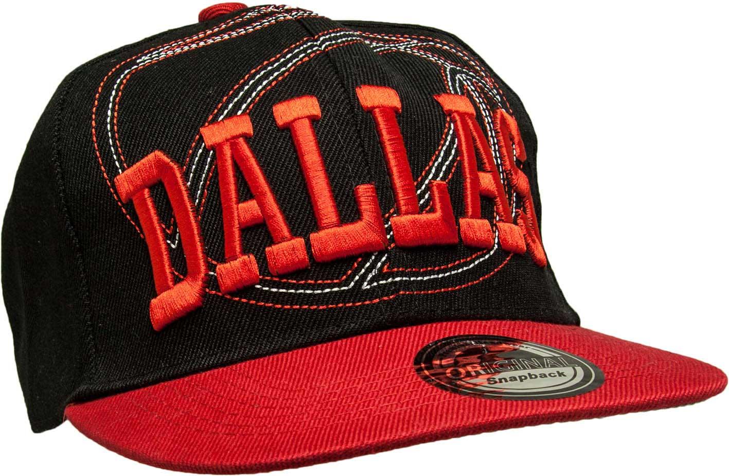 Kšiltovka City Dallas černá-červená