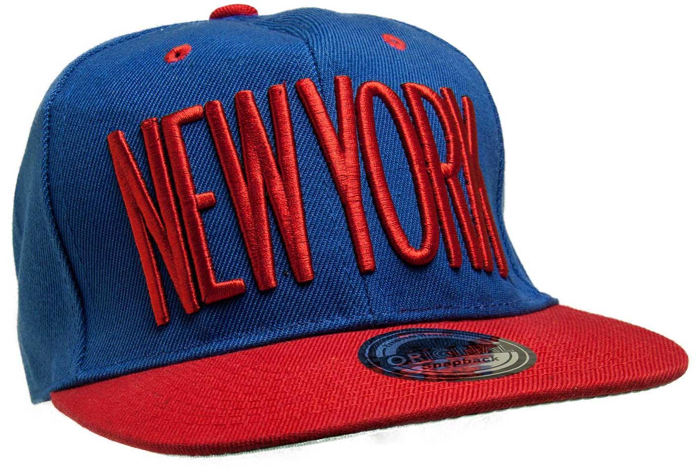 Kšiltovka City New York modrá-červená