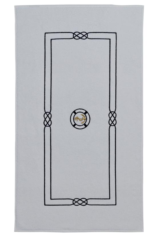 Soft Cotton Luxusní koupelnová předložka MARINE MAN 50x90 cm, Bílá, S výšivkou, 750 gr / m², Česaná prémiová bavlna 100%