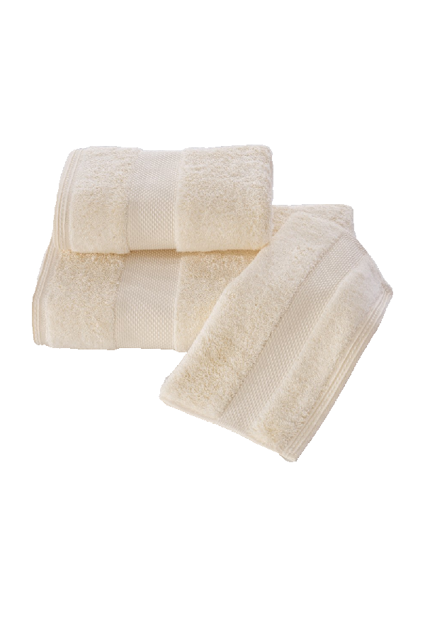 Soft Cotton Luxusní malý ručník DELUXE 32x50cm z Modalu, Krémová, 650 gr / m², Modal - 17% modal / 83% výběrová bavlna