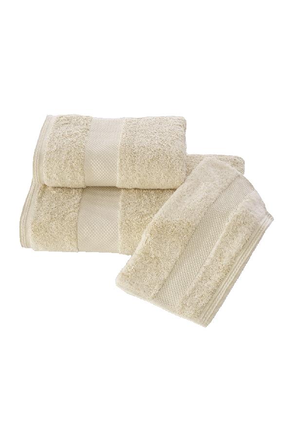 Soft Cotton Luxusní malý ručník DELUXE 32x50cm z Modalu, Světle béžová, 650 gr / m², Modal - 17% modal / 83% výběrová bavlna