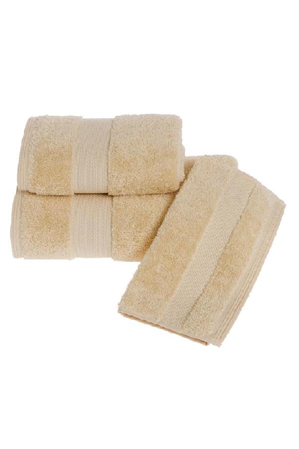 Soft Cotton Luxusní malý ručník DELUXE 32x50cm z Modalu, Medová Honey, 650 gr / m², Modal - 17% modal / 83% výběrová bavlna