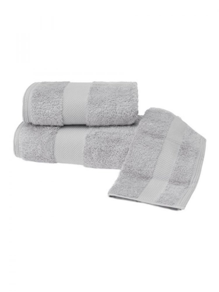 Soft Cotton Luxusní malý ručník DELUXE 32x50cm z Modalu, Světle šedá, 650 gr / m², Modal - 17% modal / 83% výběrová bavlna