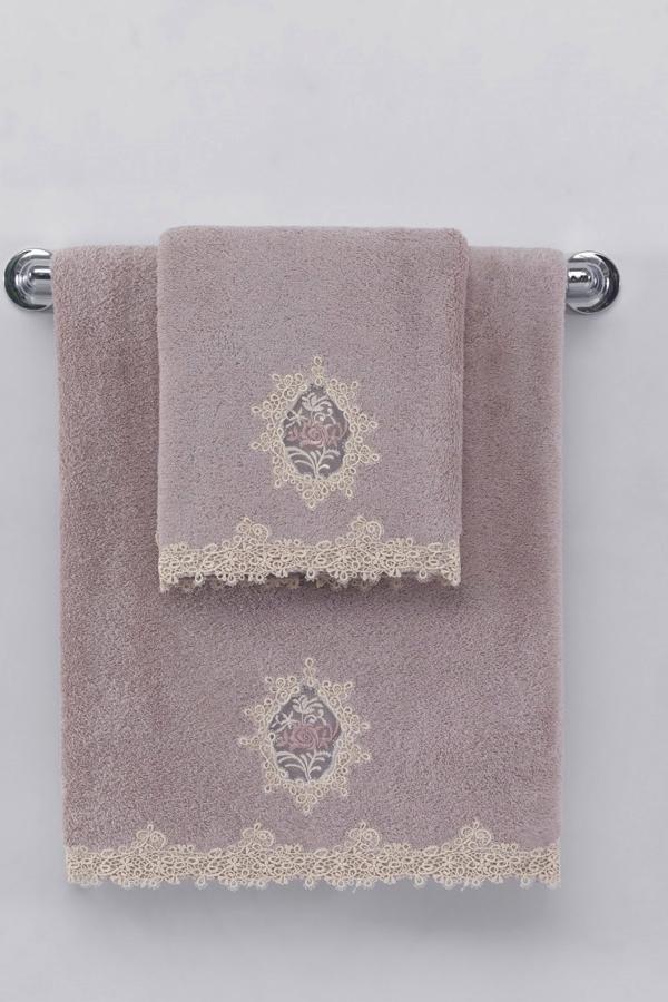 Soft Cotton Malý ručník DESTAN 32x50cm, Fialová, Lila, 580 gr / m², Česaná prémiová bavlna 100%