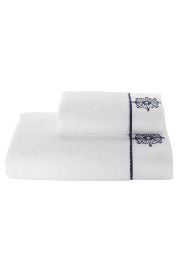Soft Cotton Sada Ručníků MARINE LADY 50x100 cm + 85x150 cm, Bílá, 580 gr / m², Česaná prémiová bavlna 100%