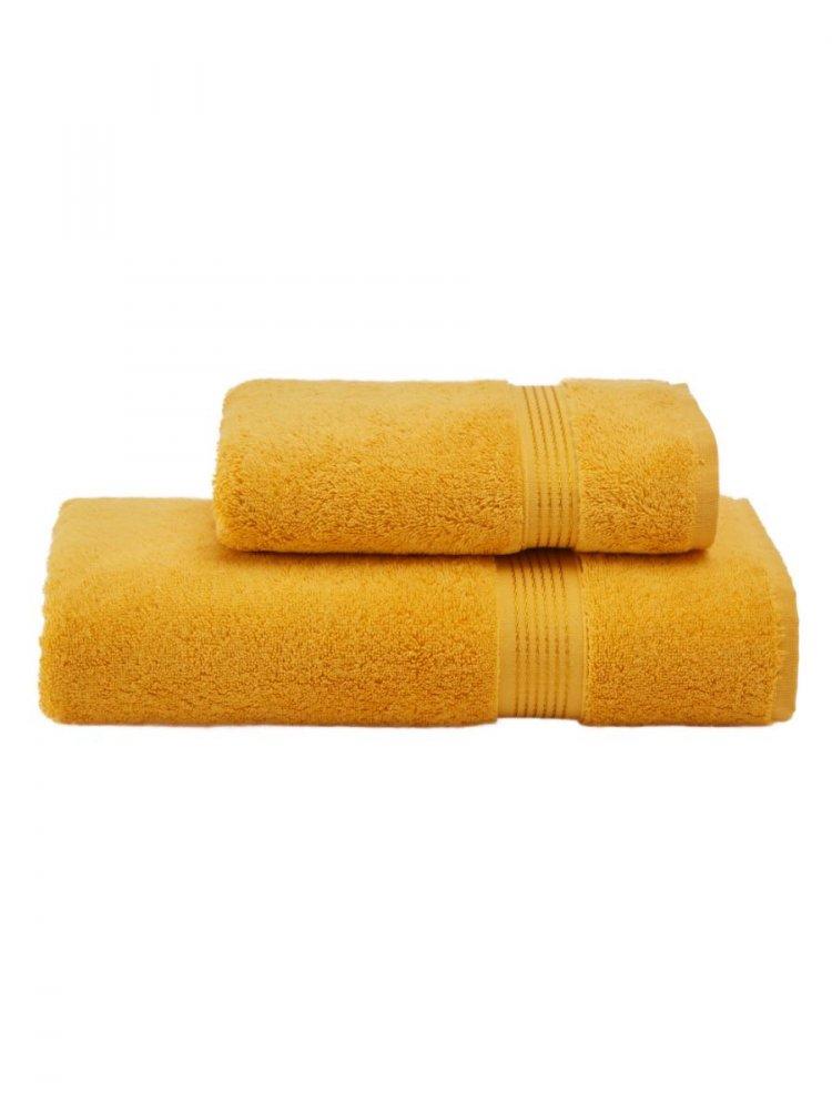 Soft Cotton Dárkové balení ručníků a osušek LANE, Žlutá, 580 gr / m², Česaná prémiová bavlna 100%