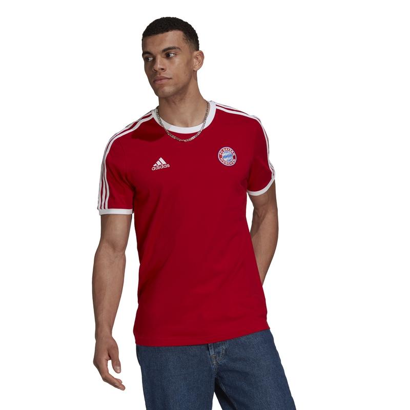 Bayern Mnichov pánské tričko 3-stripes red adidas 37844