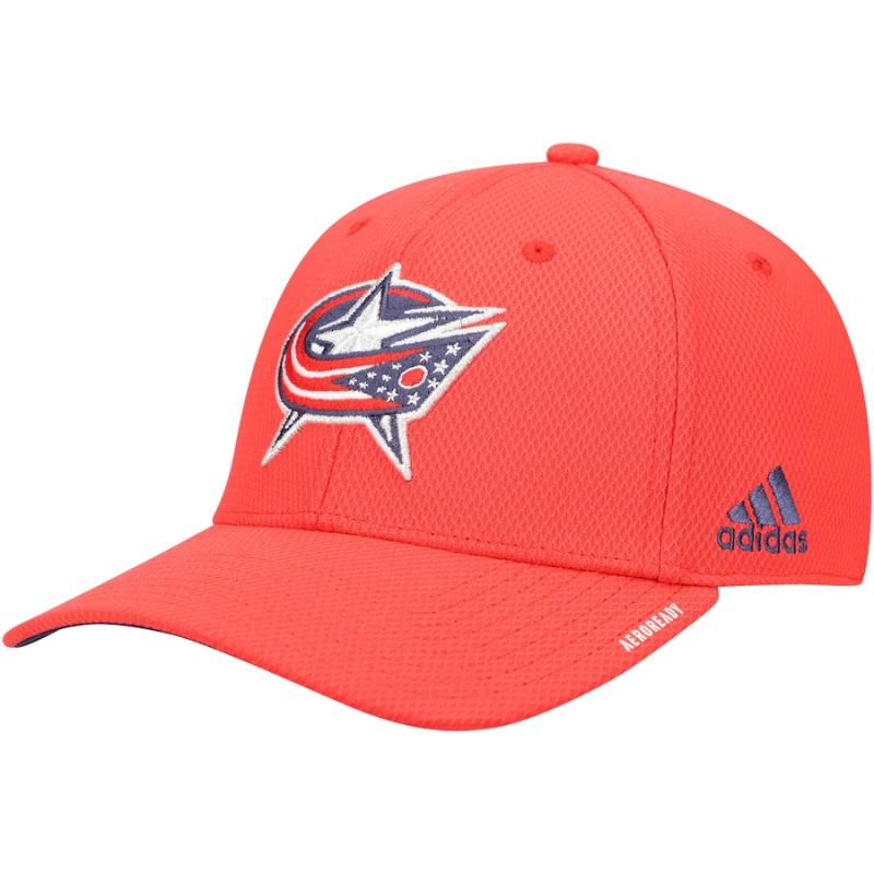 Columbus Blue Jackets čepice baseballová kšiltovka Locker room coach flex hat - red adidas 86868