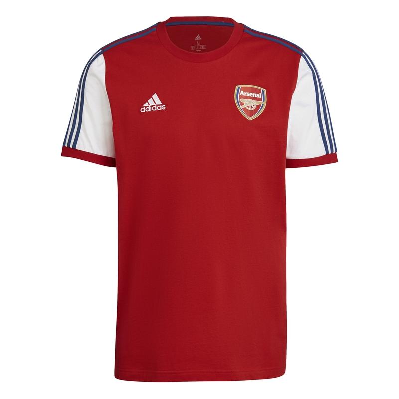 FC Arsenal pánské tričko 3-stripes red adidas 38774