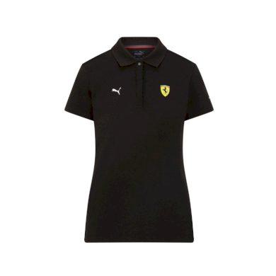 Ferrari dámské polo tričko Classic PUMA Black F1 Team 2021 Puma 701210920002225