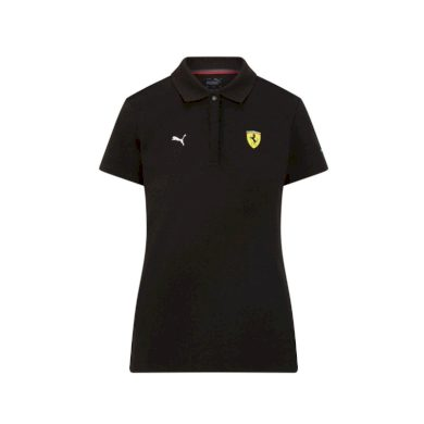 Ferrari dámské polo tričko Classic PUMA Black F1 Team 2021 Puma 701210920002220