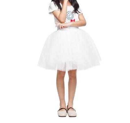 TUTU tylová sukýnka dětská - bílá, 35 cm