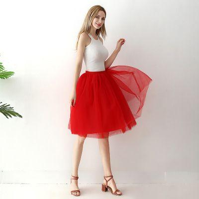 TUTU tylová sukně dámská - červená 65 cm