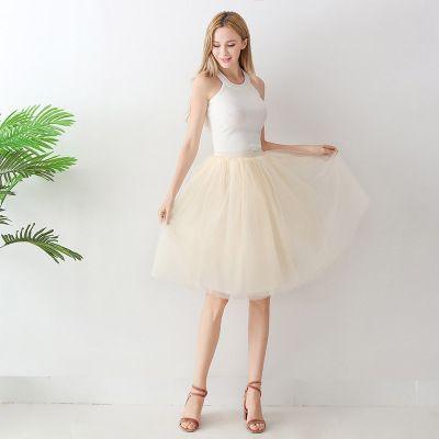 TUTU tylová sukně dámská - ivory 65 cm